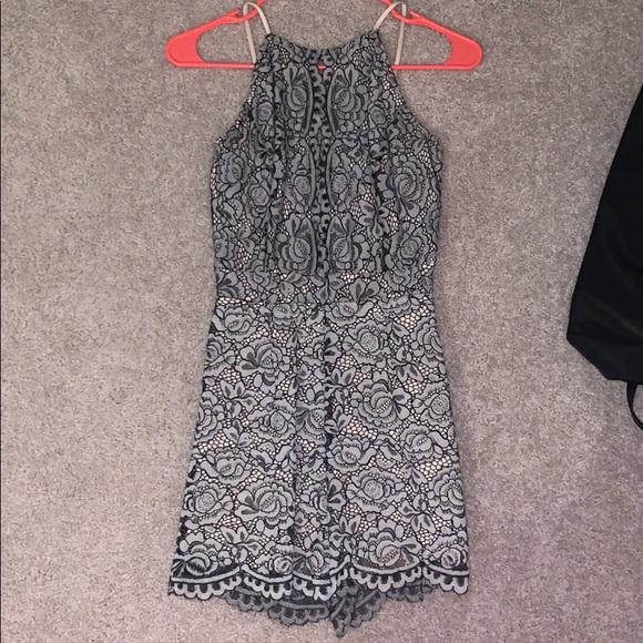 Charlotte Russe Dresses & Skirts - Black and white patterned romper